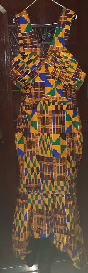 Kente Ankara Fishatail Dress Size M/L | Clothing for sale in Rivers State, Port-Harcourt