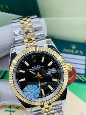 High Quality Rolex Date-Just Gold Silver Chain Watch for Men   Watches for sale in Lagos State, Magodo