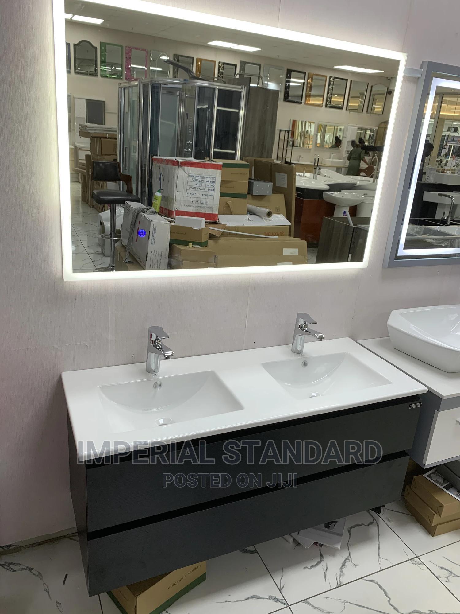 Archive: 100cm Water Resistant Pvc Cabinet Double Basin
