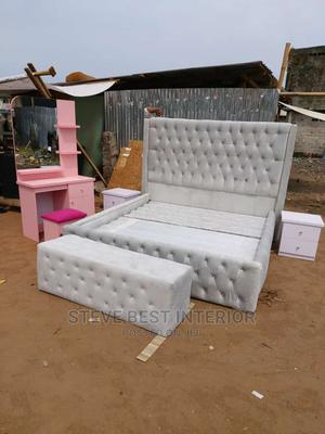 6by6 Padded Upholstery Bed | Furniture for sale in Lagos State, Ojo