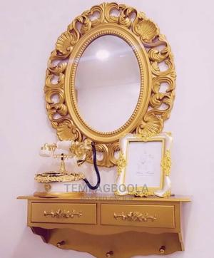 Gold Console and Mirror   Home Accessories for sale in Lagos State, Ikeja