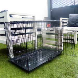 New Pet Collapsible Cage With Tray for Cat, Dog, Rabbit 90cm | Pet's Accessories for sale in Lagos State, Lekki