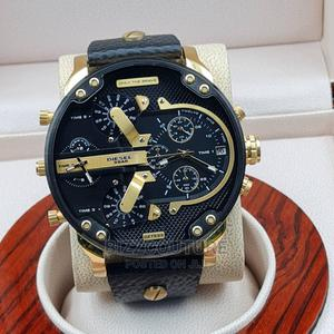 High Quality Diesel Black Dial Leather Watch for Men   Watches for sale in Lagos State, Magodo