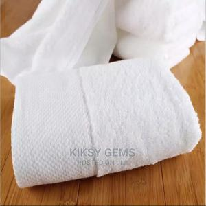 White Standard Bath Size Towels (70 X 140)   Home Accessories for sale in Lagos State, Ifako-Ijaiye
