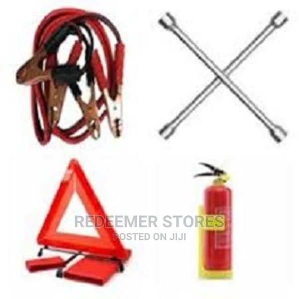 Jumper Cable, Fire Extinguisher,Cross Spanner C Caution