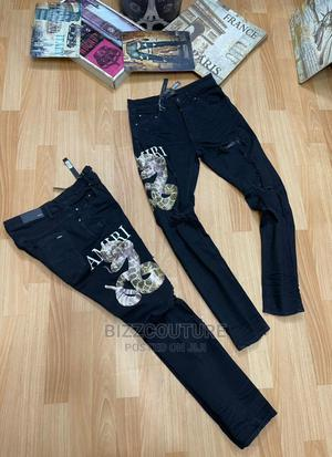 High Quality Amiri Black Jeans for Men | Clothing for sale in Lagos State, Magodo