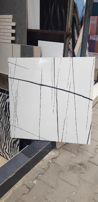 Moon Light White and Black Floor Tiles