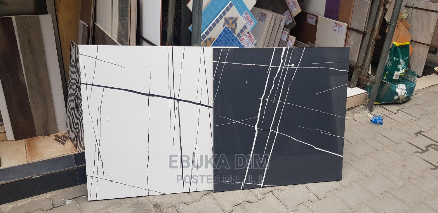 Moon Light White and Black Floor Tiles | Building Materials for sale in Orile, Lagos State, Nigeria
