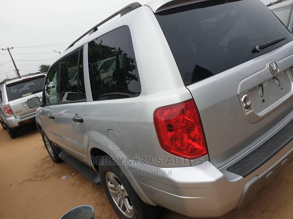 Honda Pilot 2004 EX-L 4x4 (3.5L 6cyl 5A) Silver | Cars for sale in Apapa, Lagos State, Nigeria