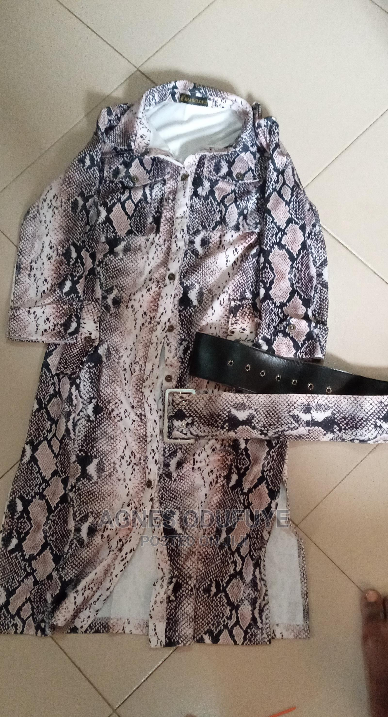 Shirt Dress Gown With Belt. | Clothing for sale in Ikorodu, Lagos State, Nigeria