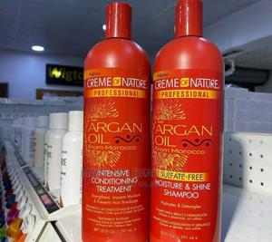 Creme of Nature Argan Oil Shampoo + Intensive Treatment | Hair Beauty for sale in Lagos State, Ojo