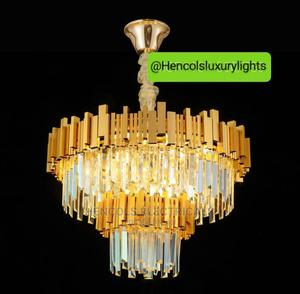 Luxury Designs, Crystal Chandelier Light Gold   Home Accessories for sale in Lagos State, Ojo