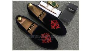 Black Velvet With Monogram   Shoes for sale in Lagos State, Mushin