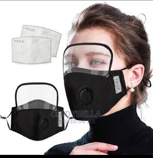 Detachable Face Shield And Nose Mask With PM 2.5 Filter   Safetywear & Equipment for sale in Lagos State, Mushin