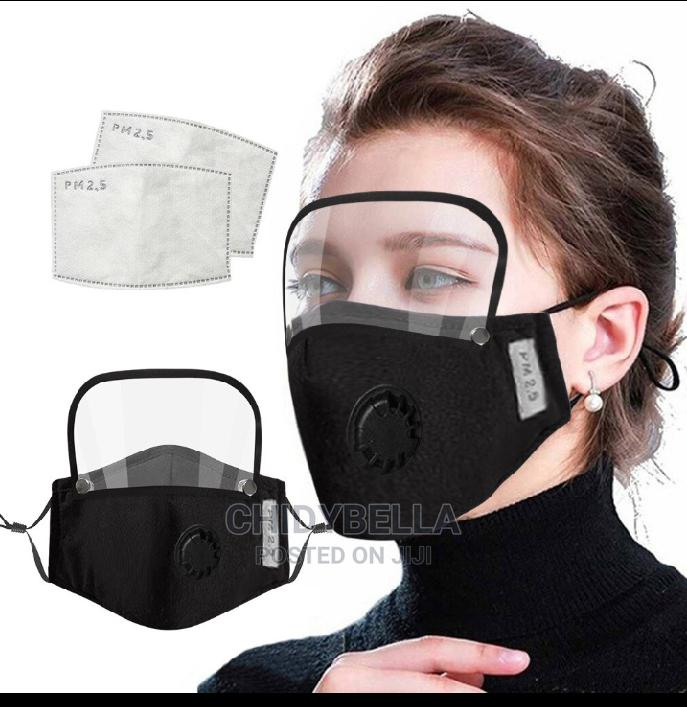Detachable Face Shield And Nose Mask With PM 2.5 Filter