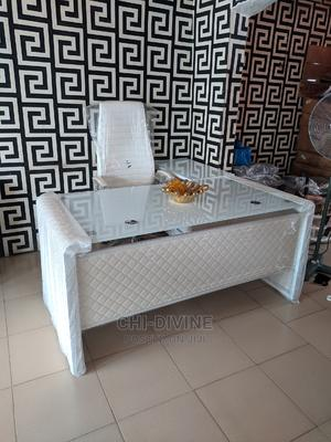 Brand New White Office Table and Chair | Furniture for sale in Lagos State, Ojo