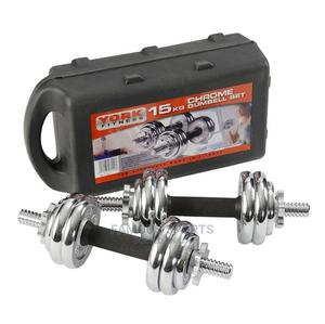 15 Kg 2 in 1chrome Dumbbell and Barbell Weight | Sports Equipment for sale in Lagos State, Surulere