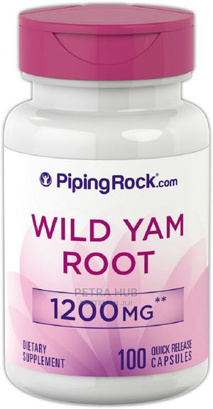 Wild Yam 1200mg - 100 Capsules | Vitamins & Supplements for sale in Lagos State, Isolo