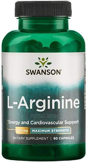 L-Arginine 850mg, 90 Caps - Energy Cardiovascular Support   Vitamins & Supplements for sale in Lagos State, Isolo