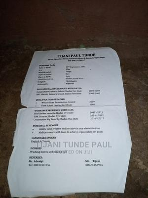 Full Time   Hotel CVs for sale in Oyo State, Oyo