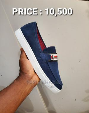 Navy Blue Leather Suede Sneakers Shoe | Shoes for sale in Lagos State, Lekki