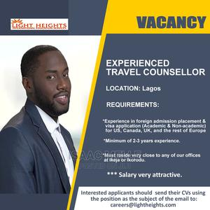 Experienced Travel Counsellor wanted   Travel & Tourism Jobs for sale in Lagos State, Ikeja