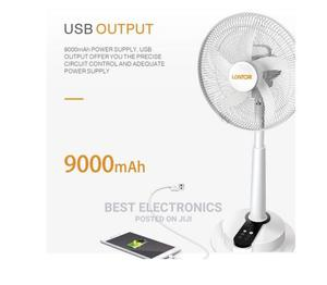 """Lontor Rechargeable Fan With Long Battery Life - 16"""" Inches 