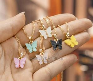 Butterfly Necklace and Real Double Layered Necklace | Jewelry for sale in Lagos State, Surulere