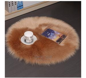 40x40 Brown Round Fur Rug   Home Accessories for sale in Lagos State, Agboyi/Ketu
