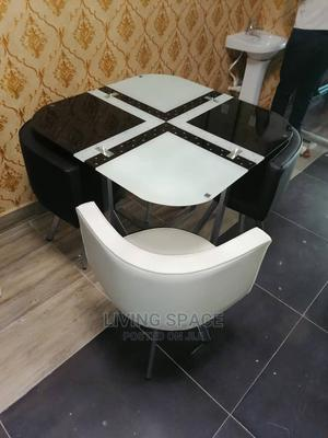 Glass Top Dinning Table With 4 Chairs | Furniture for sale in Lagos State, Ajah