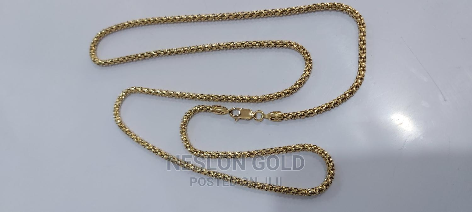 ITALY 750 Tested 18karat Solid Gold Necklace Robe Design