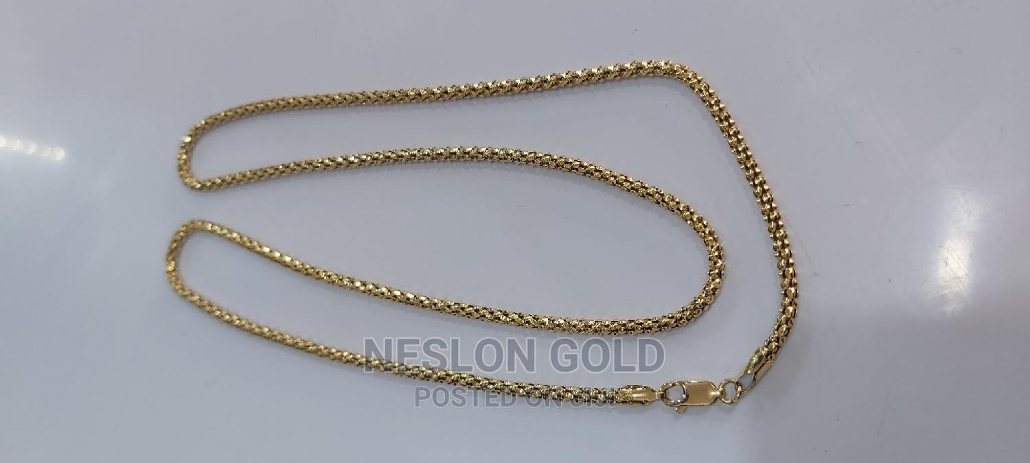 ITALY 750 Tested 18karat Solid Gold Necklace Robe Design | Jewelry for sale in Amuwo-Odofin, Lagos State, Nigeria