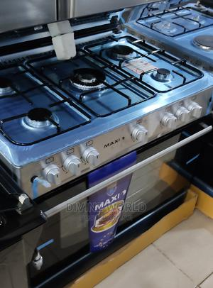 Brand New Maxi 5burners Standing Gas With Oven Automatic | Kitchen Appliances for sale in Lagos State, Ojo