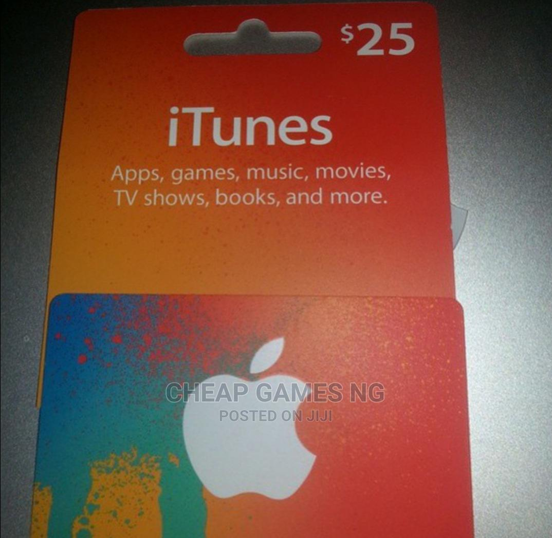 25$ iTunes Gift Card | Accessories for Mobile Phones & Tablets for sale in Agege, Lagos State, Nigeria