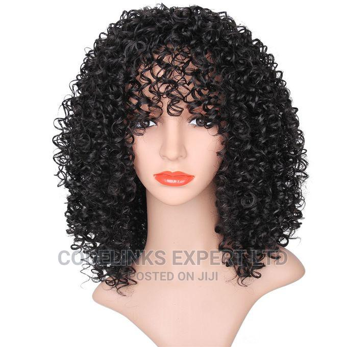 Archive: Curly Human Hair Fringe Wig Promo