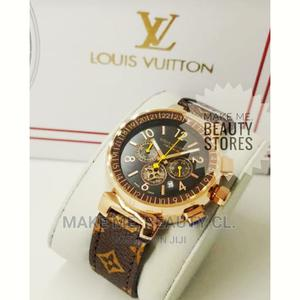 Louis Vuitton Chronograph Leather Woman Quality Watch | Watches for sale in Lagos State, Ojo