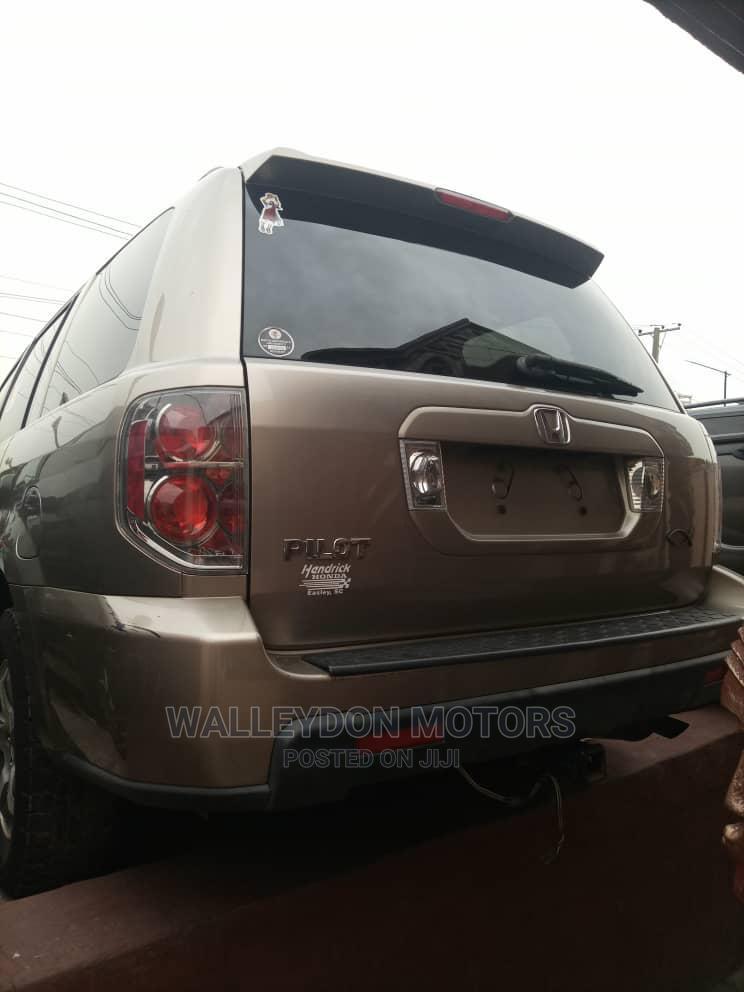 Honda Pilot 2007 EX-L 4x4 (3.5L 6cyl 5A) Gold | Cars for sale in Ikeja, Lagos State, Nigeria
