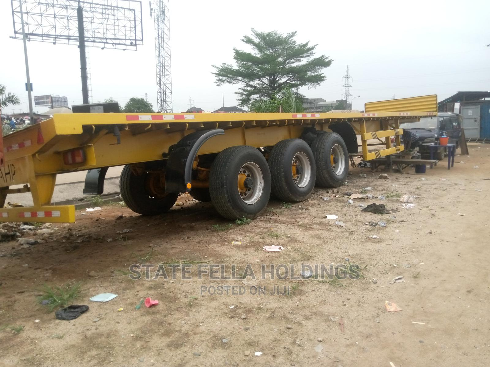40 Ton Triple Axle Flat Bed for Sale