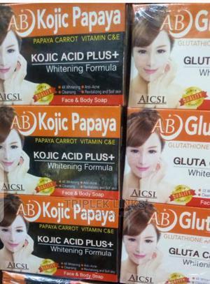 AB Kojic Papaya and Gluta Whitening Soap | Bath & Body for sale in Lagos State, Amuwo-Odofin