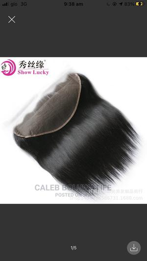 8-18inches Ear to Ear Lace Tfrontal, Human Hair Lace Frontal   Hair Beauty for sale in Oyo State, Oluyole