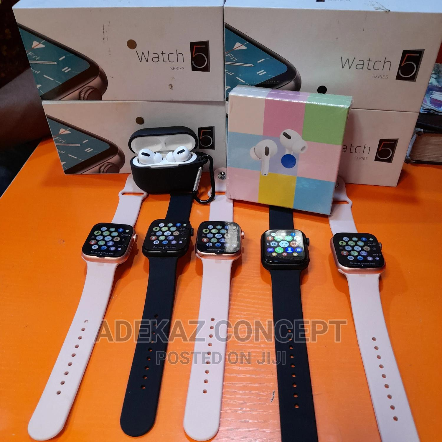 Archive: Iwatch Series 5 Smart Watch With Free Airpod Pro