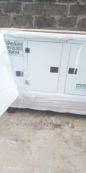 Brand New 30 Kva Perkins Soundproof Diesel Generator | Electrical Equipment for sale in Lagos State, Surulere