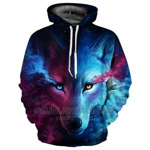 Men's Hoodies 3D Blue Wolf Printing Hoodie Men's Shirts | Clothing for sale in Lagos State, Ikorodu