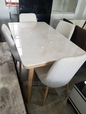 Quality Marble Dinning Table With 4 Chairs   Furniture for sale in Abuja (FCT) State, Central Business Dis
