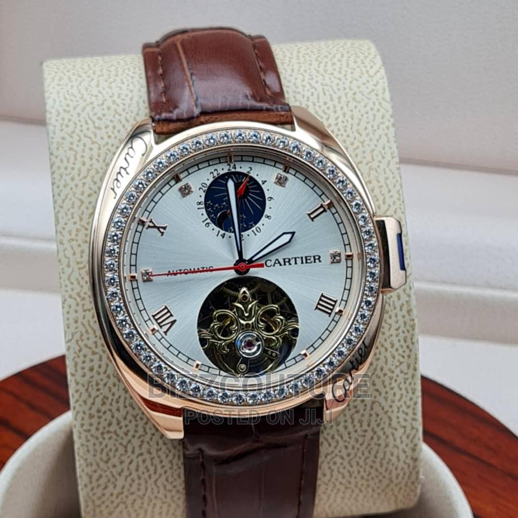 High Quality Cartier Leather Watch for Men | Watches for sale in Magodo, Lagos State, Nigeria