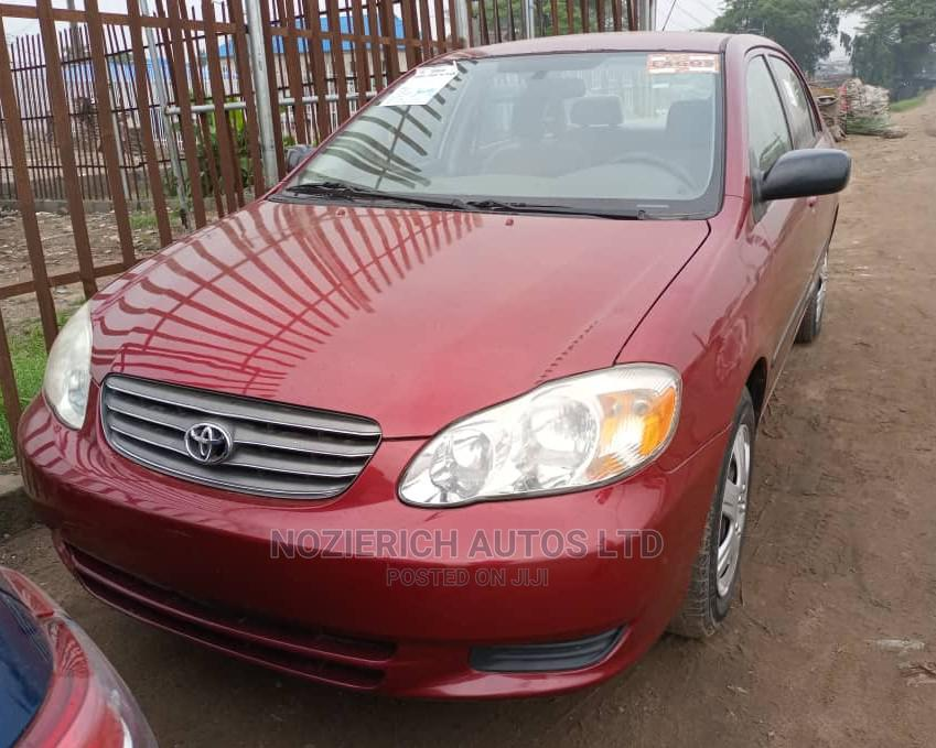 Toyota Corolla 2004 1.4 D Automatic Red