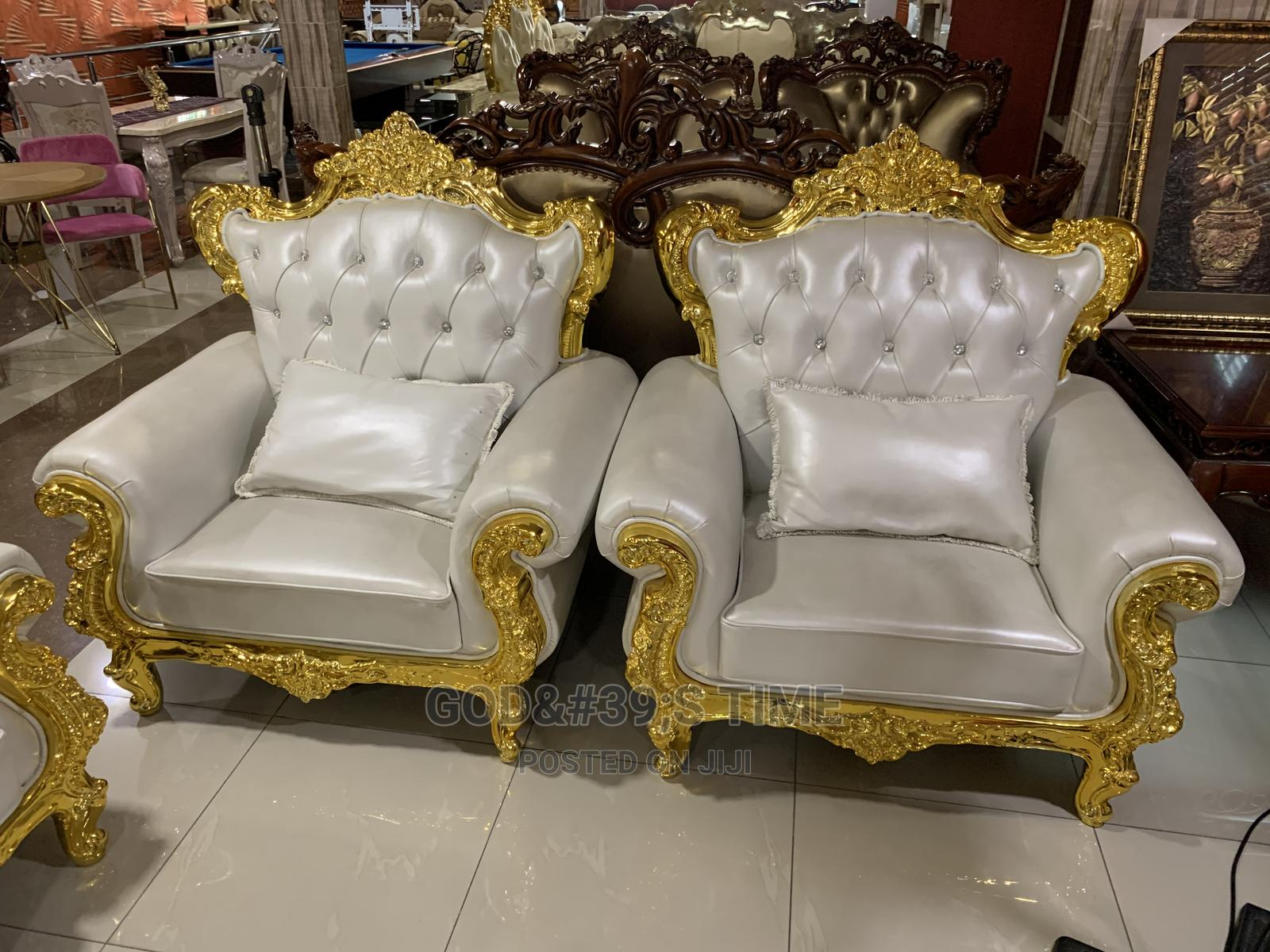 Executive Royal Pure Italian Leather Sofa Chair | Furniture for sale in Ojo, Lagos State, Nigeria