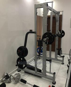 American Fitness Smith Machine With 100kg Weight Plate   Sports Equipment for sale in Lagos State, Victoria Island