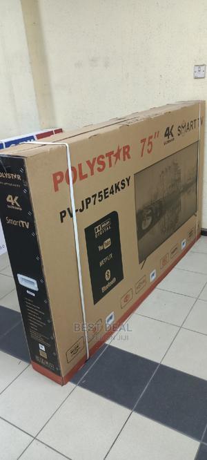 Polystar 75'' Full HD Android Smart TV 4K Uhd LED TV   TV & DVD Equipment for sale in Lagos State, Ojo