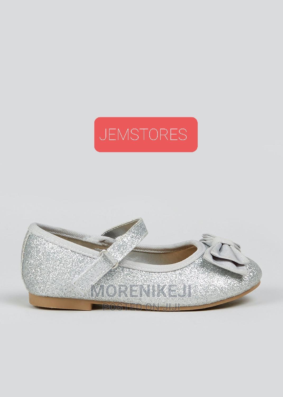 Girls Silver Ballet Flat